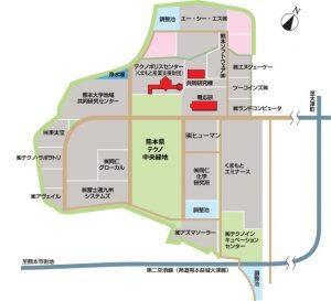 テクノリサーチパーク内地図
